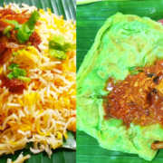 Pork Briyani and rainbow prata?