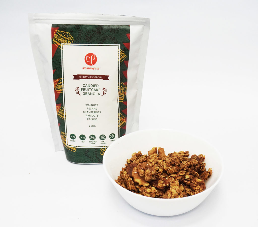 candied fruitcake granola