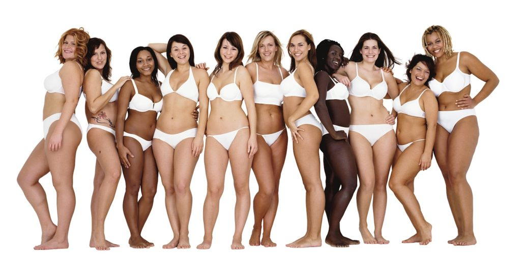 women of all shapes and sizes