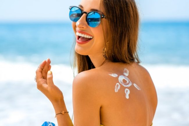 Sunscreen girl