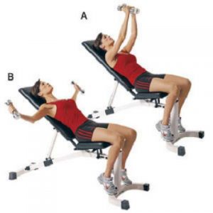 Incline dumbbell chest fly
