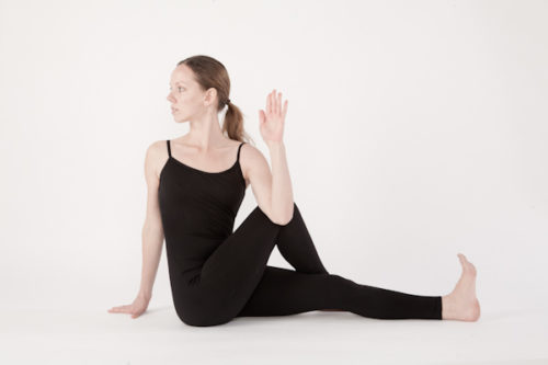 one legged seated spinal twist